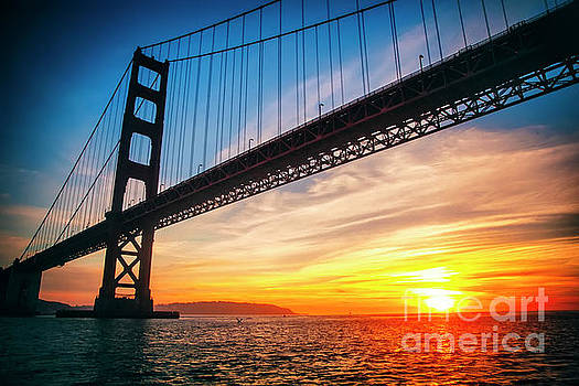 Golden Gate Bridge Sunset by Katya Horner