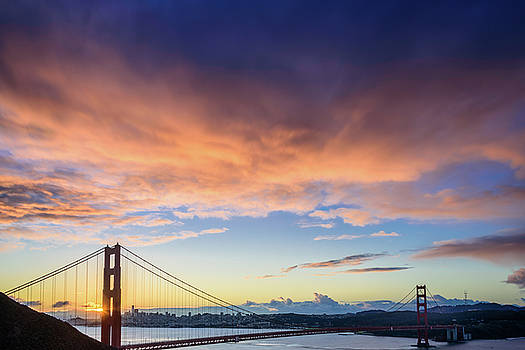 Golden Gate Morning Clouds by Daniel Danzig