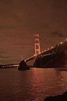 Golden Gate Night  by April Bielefeldt