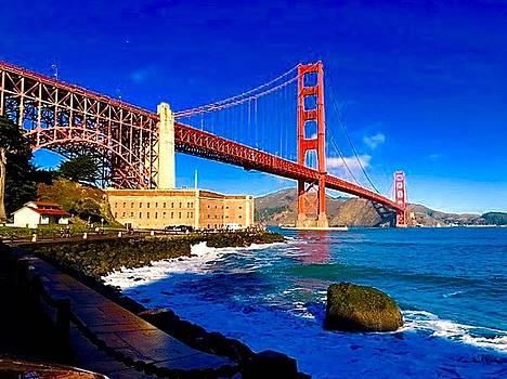 Golden Gate Postcard by Jennifer Cadence Spalding