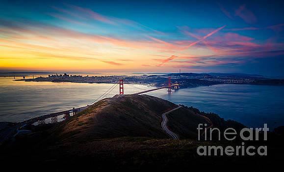 Golden Gate Sunrise by Engel Ching