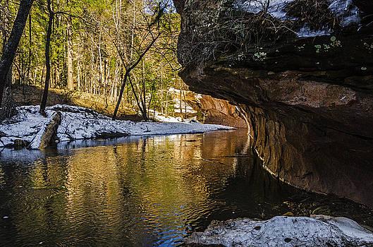 golden glow on Oak Creek by Tom Clark