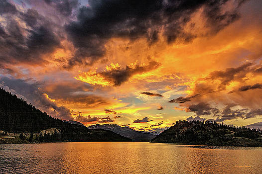 Golden Glow Sunset at Summit Cove by Stephen Johnson
