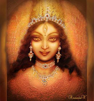 Golden Goddess Durga  by Ananda Vdovic