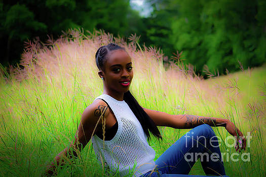 Golden Grass and Blue Jeans by JB Thomas