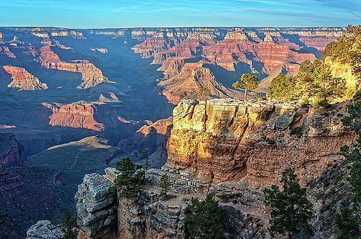 Golden Hour at Bright Angel Trail -Grand Canyon by Daniela Constantinescu