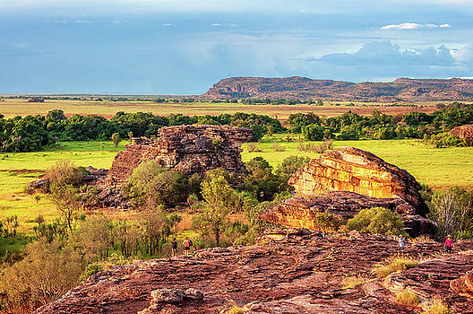 Golden Hour at Ubirr Rock, Australia by Daniela Constantinescu