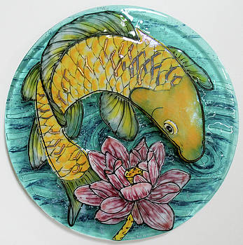 Golden Koi by Michelle Rial