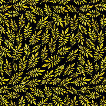 Golden leaf pattern 2 by Stanley Wong