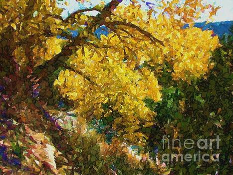 Golden leaves by Annie Gibbons