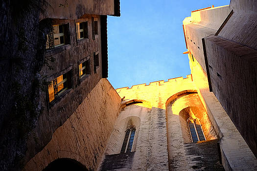 Golden Light in Avignon by August Timmermans