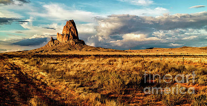Golden light on Utah Monolith by David Daniel