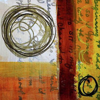 Golden Marks 5 by Nancy Merkle
