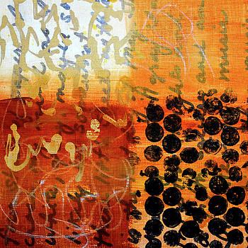 Golden Marks 7 by Nancy Merkle
