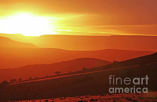Golden Namibia at the morning by Wibke W