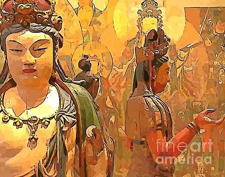 John Malone - Golden Oriental Theme Art