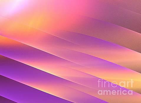 Golden Purple Rays by Kim Sy Ok