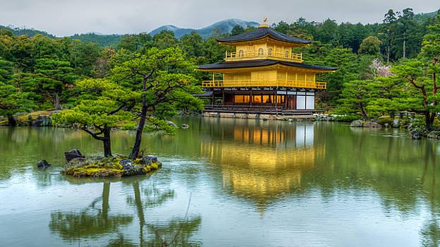Golden reflection Kinkaku-ji temple by Srikanth Srinivasan