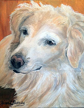 Roxy the Golden Retriever  by Karen Dortschy