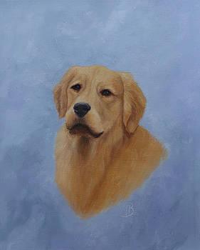 Golden Retriever Portrait by Monica Burnette