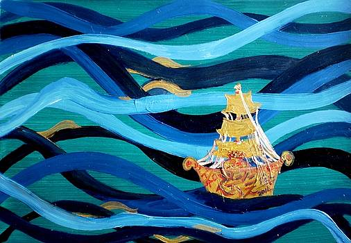 Rizwana Mundewadi - Golden Ship of Prosperity