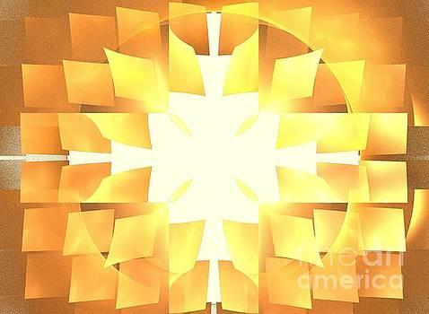 Golden Solar Petals by Kim Sy Ok