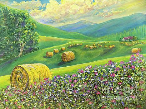 Golden Splendor In The Hay Field by Lee Nixon