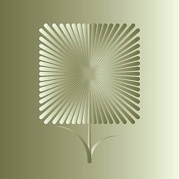 Golden square flower by Marinela Feier