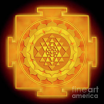 Golden Sri Yantra - Artwork 1 by Dirk Czarnota