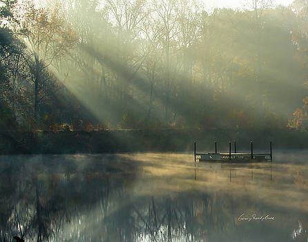 Golden Sun Rays by George Randy Bass
