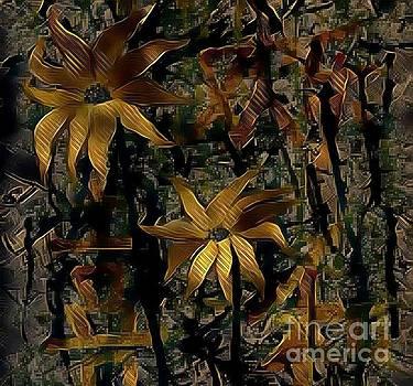Golden Sunflowers by Rizwana Mundewadi