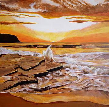 Golden Sunrise by Shagufta Mehdi