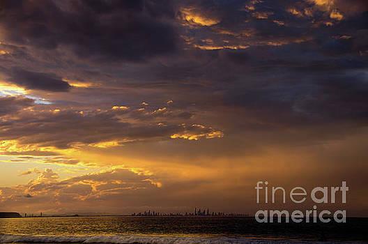 Golden Sunset by Barbara Dudzinska
