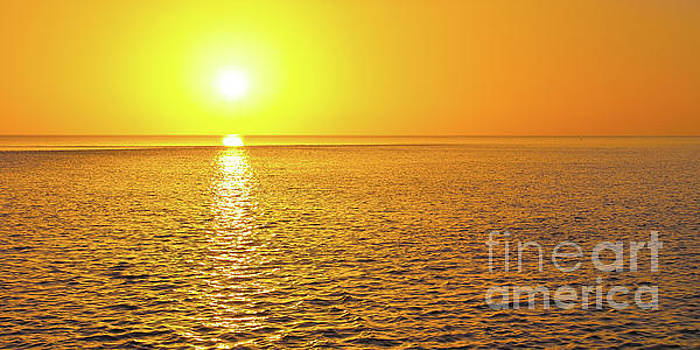 Golden Sunset on the Gulf of Mexico by ELITE IMAGE photography By Chad McDermott