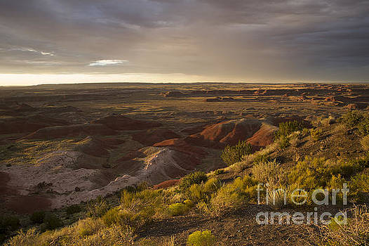 Golden Sunset Over the Painted Desert by Melany Sarafis