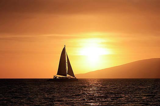 Golden Sunset Sail by JJ Preston