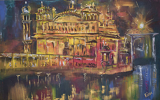 Golden Temple Night Time by Rina Bhabra