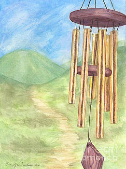Golden Windchimes by Brandy Woods