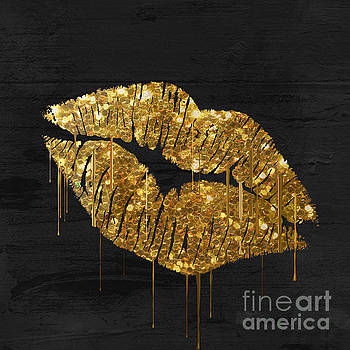 Gold Lipstick by Mindy Sommers