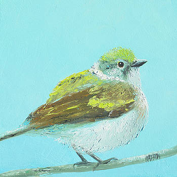 Jan Matson - Goldfinch Bird painting