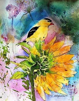 Goldfinch Visitor by Diane Splinter