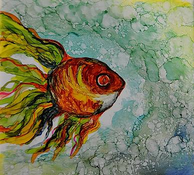 Goldfish Alcohol Ink by Andrea Patton
