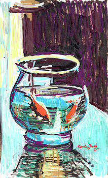Goldfish in a Bowl by Candace Lovely