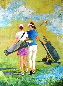 Golf buddies #1 by Betty M M Wong