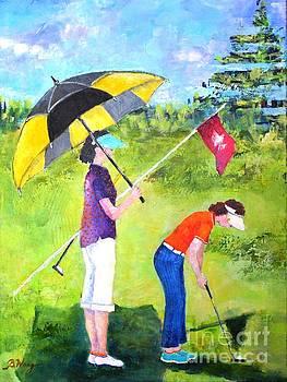 Golf Buddies #3 by Betty M M Wong
