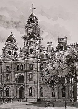 Goliad County Courthouse by Karen Boudreaux