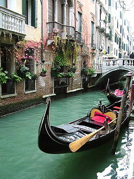 Gondola By The Restaurant by Donna Corless