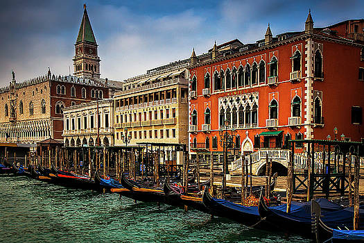 Gondolas at San Marco by Andrew Soundarajan