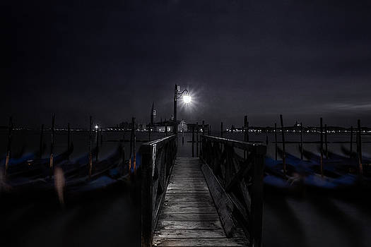 Gondolas in the Night by Andrew Soundarajan