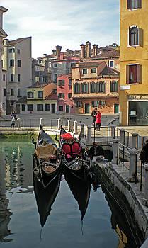 Mary Attard - Gondolas in Venice